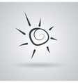 icon with the stylized spiral sun vector image