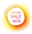 autumn sale smooth paper banner vector image