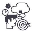 business ideabrainstormtarget goal time vector image