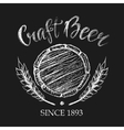 Carft beer chalk badge vector image