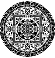 Circular pattern of traditional motifs vector image