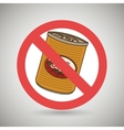 fast food can unhealth prohibited vector image