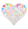 internet fireworks heart vector image