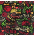 seamless pattern mexican food with vector image