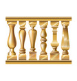 set of classic balusters vector image