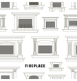 Set of fireplace icons design pattern vector image