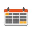 paper calendar icon vector image