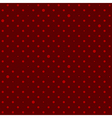 Crimson Red Star Polka Dots Background vector image
