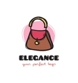 cute woman bag sketchy logo Bags shop vector image