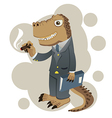 dino businessman vector image
