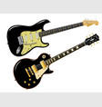 elecric guitars vector image
