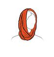 fashion accessory winter set women clothing vector image