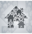 Gray home symbol on light gray background vector image