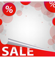 Red Sale Poster vector image