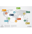 social network infographic vector image