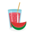 Watermelon juice in a glass Fresh isolated on vector image