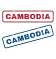 Cambodia Rubber Stamps vector image