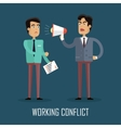 Working Conflict Concept vector image