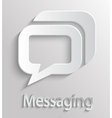 Icon message vector image