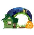 House and Jack o lantern vector image