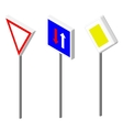 Isometric icons various road sign European and vector image
