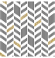 Seamless Chevron Pattern With Glittering Gold and vector image vector image