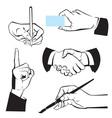 Hands - different gestures vector image