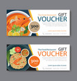 discount voucher template with thai food vector image vector image