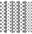 298black and white geometric pattern set vector image