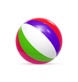 Beach ball Isolated on white background vector image