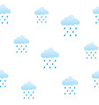 clouds and rain seamless pattern vector image