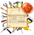 construction layout vector image