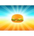 Delicious Hamburger vector image