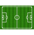 European football soccer field vector image