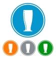 Flat pilsner glass for beer vector image