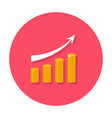 growing chart flat icon vector image