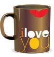 I love you mug vector image