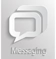 Icon message vector image