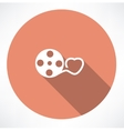 Love movie reel with hearts vector image