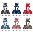 Patriotic Uncle Sam vintage labels set vector image