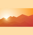 poly mountain landscape vector image