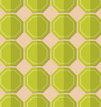 Retro fold green octagons vector image