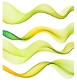 Set of green transparent smoke wave vector image