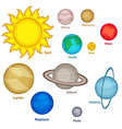 set of isolated planet of solar system vector image