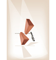 Two Musical Cowbell on Brown Stage Background vector image