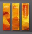 Template vertical web banners with polygonal vector image