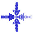 compress arrows grunge textured icon vector image