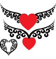 Tattoo hearts vector image vector image