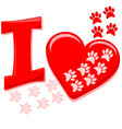 I Heart Paws vector image
