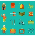Elderly people icons vector image vector image